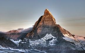 Picture snow, mountain, Switzerland, top, Matterhorn