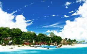 Wallpaper home, the sky, beach, sand