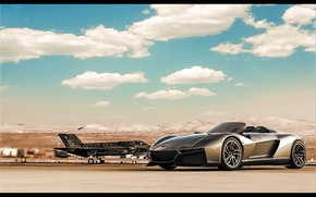 Picture The sky, Supercar, F-35, Supercar, 2014, Rezvani, Rezvani Beast