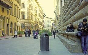 Picture street, guy, the sidewalk, Urn