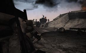 Picture soldier, Germany, fog, Britain, tank, WWI, WW1, luger, g38, Verdun 1914-1918, gatling machingun, great war, …