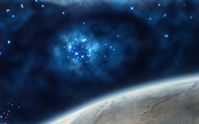 Picture space, stars, the universe, planet, art