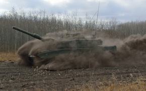 """Picture speed, dust, tank, combat, Leopard 2А6, """"The leopard 2A6"""""""