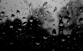 Picture glass, drops, rain, texture