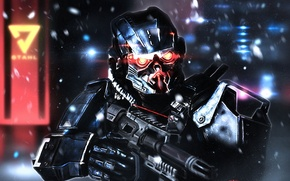 Picture soldiers, art, PlayStation 4, Sony Computer Entertainment, Guerrilla Games, Killzone: Shadow Fall, Helghast, Assault Infantry