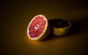 Picture shadow, orange, fruit