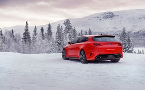Picture red, concept, side view, kia, sportspace