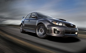Wallpaper road, speed, Subaru, wrx, impreza