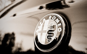 Picture macro, sign, Alfa Romeo