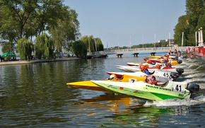 Picture boats, race, start