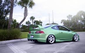 Picture green, coupe, honda, green, Honda, acura, Integra, integra, type-r