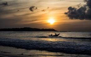 Picture sea, landscape, sunset, Sri Lanka