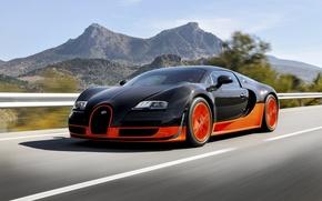Picture Bugatti, Bugatti, Veyron, Veyron, Orange, Speed, Super, Sport, Supercar, Rear