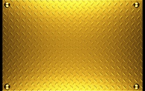 Picture metal, texture, metal, plate, gold, texture, background, rivets, steel, metallic