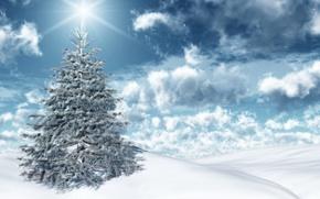 Wallpaper the sky, the sun, snow, herringbone