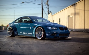 Picture racing, BMW, race, E92, blue, BMW