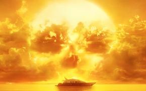Picture sake, horror, zombie, sky, sea, yellow, sunset, dead, cloud, series, fear, evil, yacht, season, The …