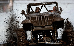 Picture background, Wrangler, tuning, Ringler, Jeep, squirt, Jeep, happy faces, dirt, the front, tuning, SUV