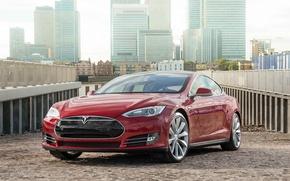 Picture Tesla, industrial, Model S, 2014
