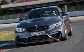 Picture bmw, BMW, track, the front, gts