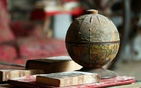 Wallpaper books, background, globe