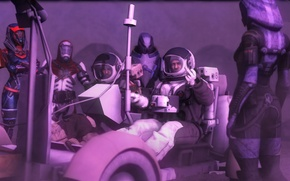 Picture the moon, the suit, astronauts, gesture, aliens, mass effect, the astronauts, tali, expedition, quarian, Rover, …
