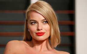 Picture eyes, look, face, smile, actress, blonde, lips, girl, blonde, Margot Robbie, Margot Robbie