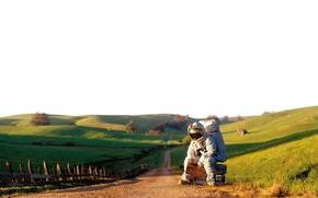 Picture road, ride, astronaut