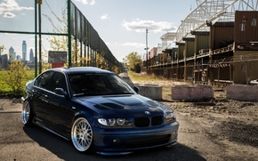 Picture BMW, E46, BLUE, DARK
