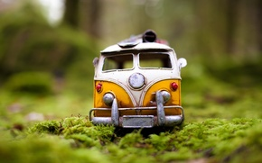 Picture in the grass, van, photo, toy, photographer, greens, toy, auto, model, forest, model, shooting, Kim ...