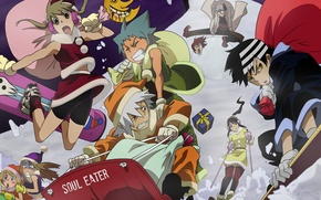 Picture winter, snow, the descent, slope, Soul Eater