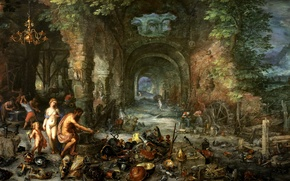 Wallpaper genre, Allegory Of The Four Elements. Fire, Jan Brueghel the elder, picture