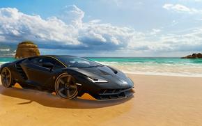 Picture Auto, Game, Machine, Race, Racing, Lamborghini Centenary, Forza Horizon 3, Playground Games, Microsoft Studio, Tuner