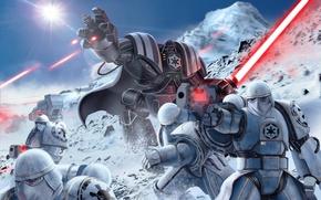 Picture star wars, darth vader, armor, art, stormtrooper, lightsaber, sith