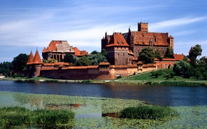 Picture castle, tower, Europe, red roof