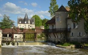 Picture France, The city, Architecture, Bridge, France, The bridge, Town, Architecture, Old city