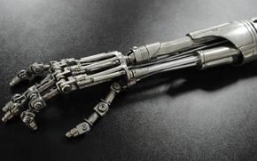 Picture Terminator, cyborg, T-800, arm