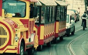 Picture city, train, lions, train, Ukraine, paravoz, lviv