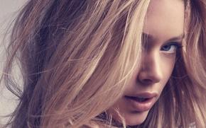 Picture eyes, girl, face, model, hair, Doutzen Kroes, blonde, lips, beauty, Victoria's Secret Angels, Doutzen Croesus