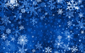 Picture snow, blue, snowflake