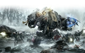 Picture space marines, Warhammer 40,000, drednot