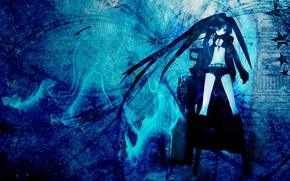 Picture girls, anime, black rock shooter
