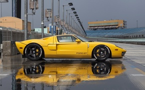 Picture Ford, yellow, track, profile, hre, gt