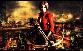 Picture the city, resident evil, crossbow, Ada Wong