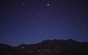 Picture Sky, Stars, Night, Clear, Mountains, views
