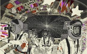 Wallpaper astronauts, Vector, design