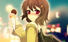 Picture anime, art, ice cream, girl