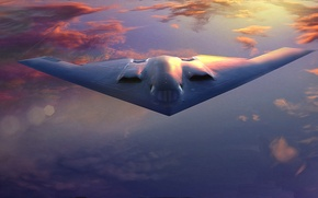 Wallpaper Spirit, bomber, strategic, B-2A