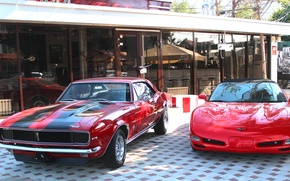 Picture musclecar, Corvette, Camaro, old school