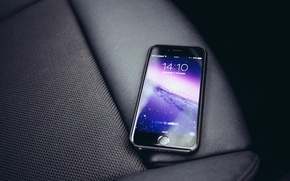 Picture style, leather, smartphone, Iphone 6, space grey